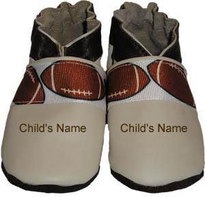 A sporty shoe for your little athlete. Personalize with your future football player