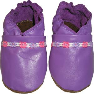 Lilac with a Floral Ribbon  Crib Shoe