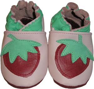 Pink with Strawberry  Crib Shoe