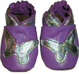 Soft Sole Lilac Foil Butterfly