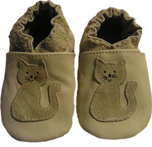 Tan Full Cat Crib Shoe