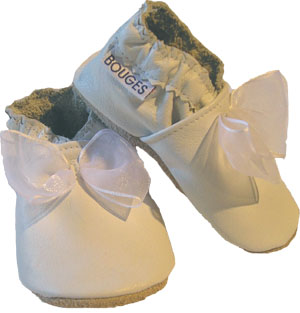 White Organza Crib Shoe