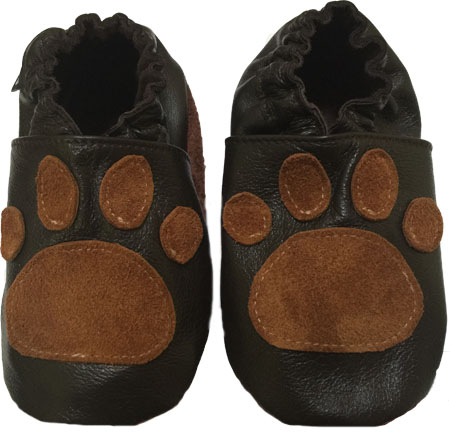 Chocolate Brown Paw Crib Shoe